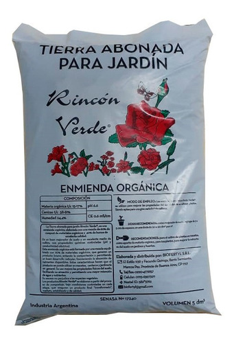 Tierra Abonada Para Jardin Humus 25dm3 Biofertyl