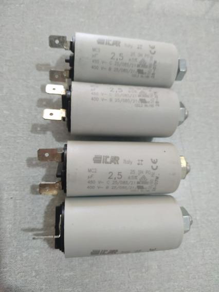 Kit Com 4 Capacitores 2,5uf 450v