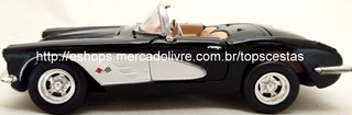 Miniatura Chevrolet Corvette 1959 1/24 Motor Max Metal Carro