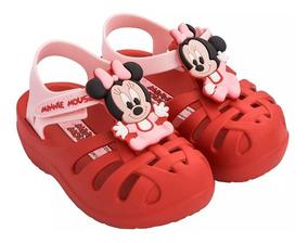 Papete Menina Minnie Disney Vermelha Grendene Clique+