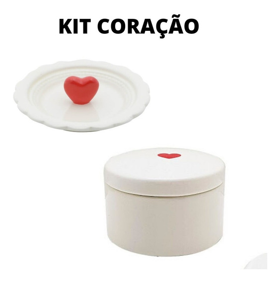 Kit 1 Porta Joias + 1 Porta Anéis De Porcelana - Urban