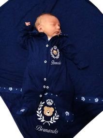 Kit Saída Maternidade Urso Príncipe Branco Personalizável