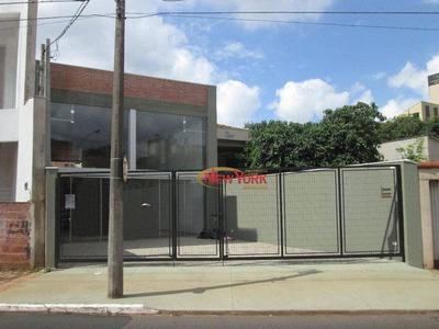 Salão Comercial Para Locação, Jardim São Carlos, São Carlos - Ga0036. - Sl0016