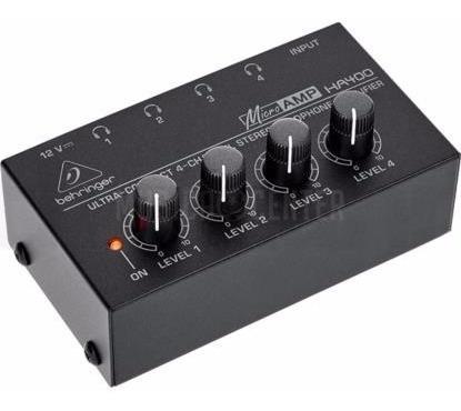 Amplificador Fone Ouvid Behringer Ha400 Microamp Diná Eletro