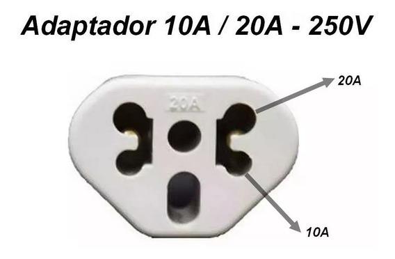 Kit 05un Adaptadores De Tomada 10a / 20a 250v Bob Bejamim