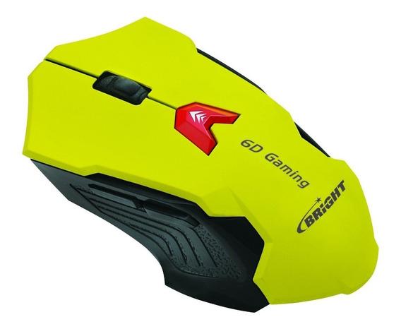 Mouse Gamer Action Bright 6 Botões 2400 Dpi Led