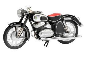 Schuco 1/10 Moto Dkw Rt 350 S 1956 - 1958 Preta