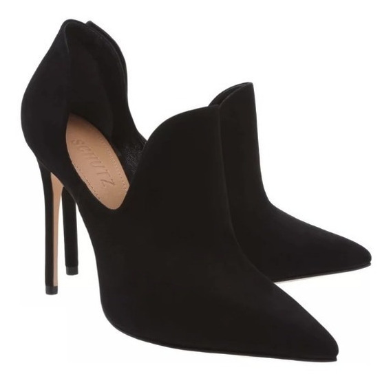 Ankle Boot Schutz Cut Out Black
