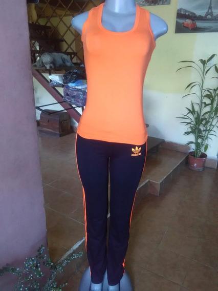 Conjunto Deportivo Dama Gym Pantalon Bota Ancha Largo