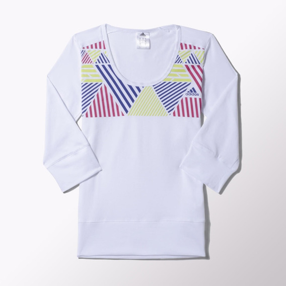 adidas Performance Remera Next Generation 3/4 Mujer White