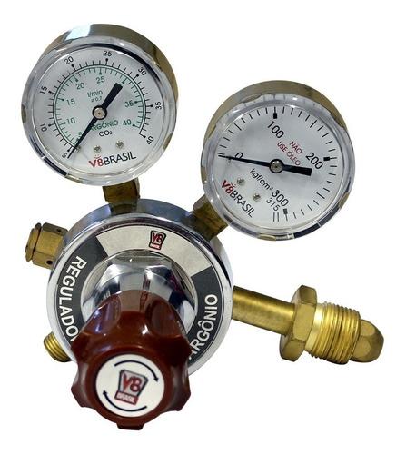 Imagem 1 de 2 de Manômetro Regulador De Pressão De Argônio / Mistura
