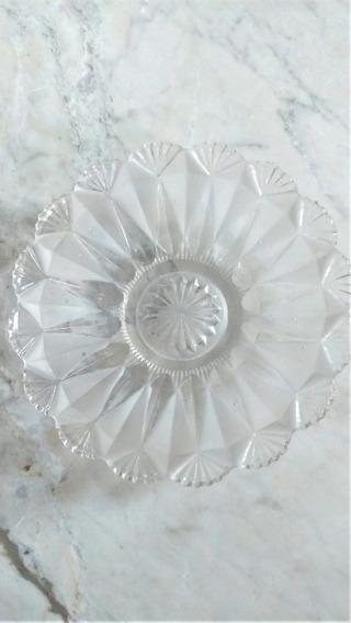Porta Jóias Bijoux Cristal Lapidado Vintage Pratinho Antigo