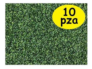 10pza Muro Verde Follaje Artificial Sintetico Jardin Planta
