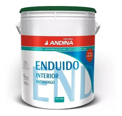 Enduido Interior Antihongo Andina 4lt - Rex