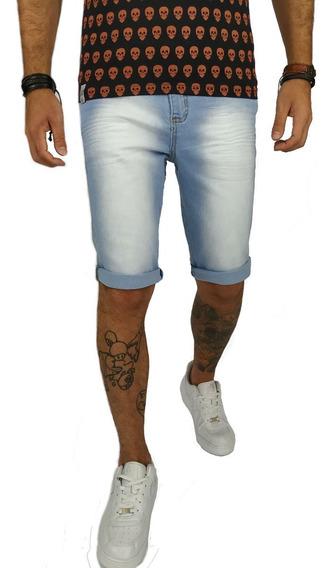 Short Bermuda Masculina Jeans Lycra Slim Verão 2019