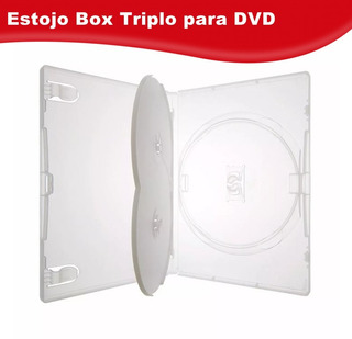 50 Estojos Triplo Transparentes Box Filme Dvd Amaray Grosso