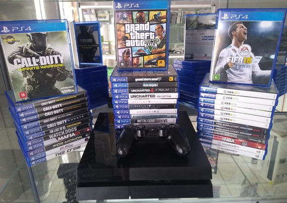 Playstation 4 Fat 500 Gb + 1 Jogo Mídia Física