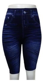 Bermuda Modeladora Short Jeans Fake