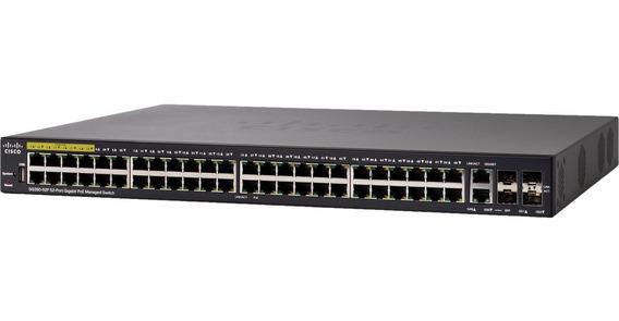 Switch Cisco Sg350-52p 52 Puertos Giga Poe Sg350-52p-k9