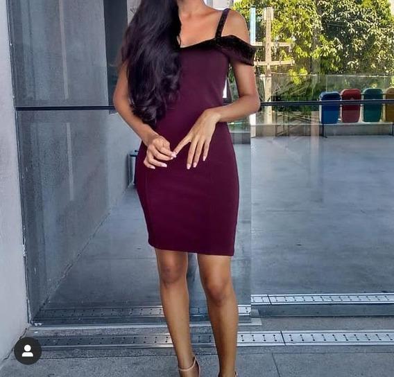 Vestido Vinho Tubinho 2019