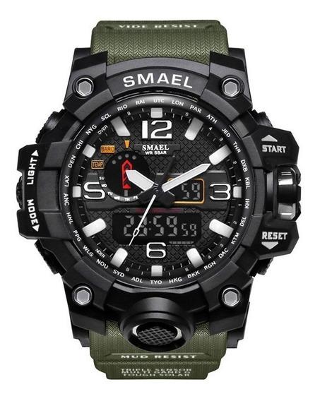 Relógio Verde Militar Smael Original Tático Prova D