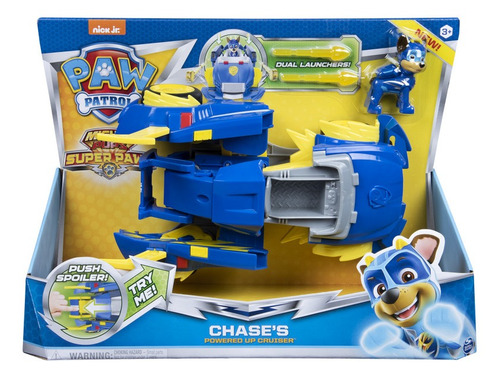 Paw Patrol Mighty Pups Vehiculo Potencia  Chase