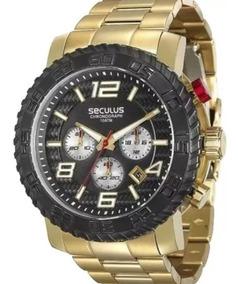 Relógio Masculino Seculus Cronógrafo Prime 28674gpsvda1