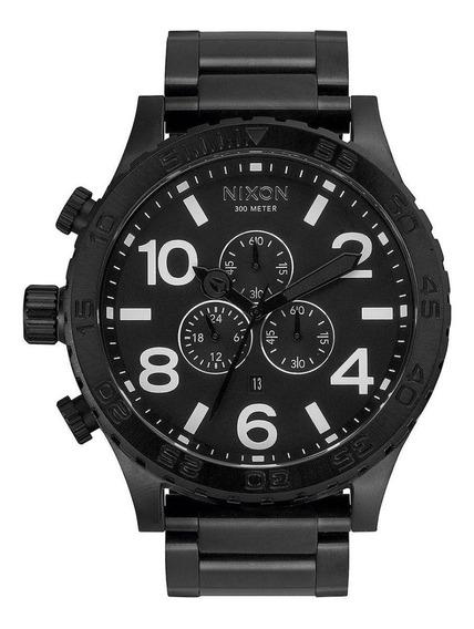 Relógio Ma11 Nixon 51 All Black A083 2790 L Australiano