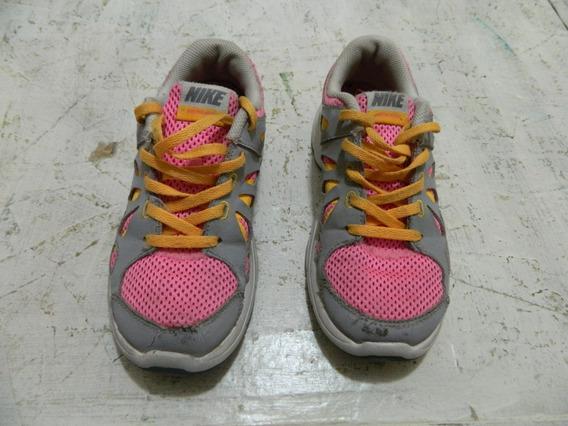 Tenis Nike Cinza E Rosa