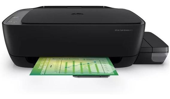 Impressora a cor multifuncional HP Ink Tank Wireless 412 sem fio 110V/220V preta