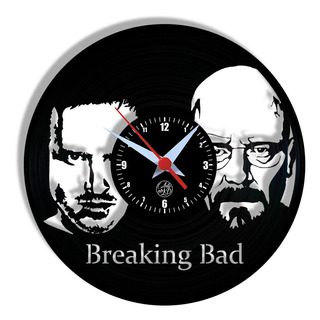 Relógio De Parede Vinil - Breaking Bad Série Tv