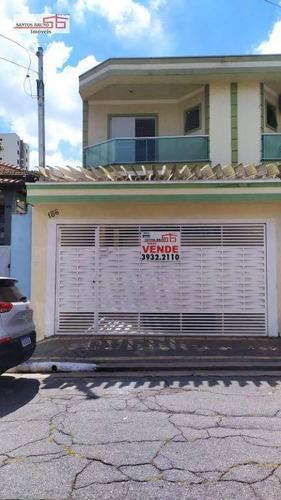 Sobrado Com 3 Dormitórios À Venda, 130 M² Por R$ 650.000,00 - Limão - São Paulo/sp - So1365