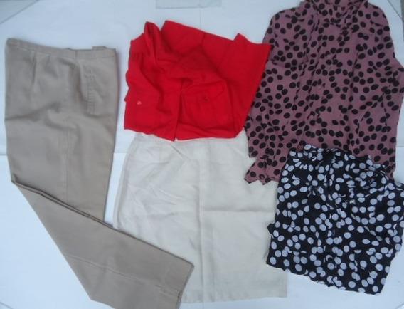 Lote Ropa De Vestir Mujer Pantalon Camisas