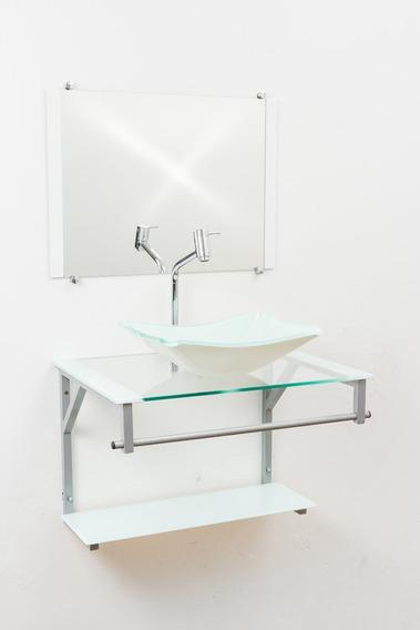 Kit Acessorios Gabinete De Vidro 60x45cm + Torneira Link