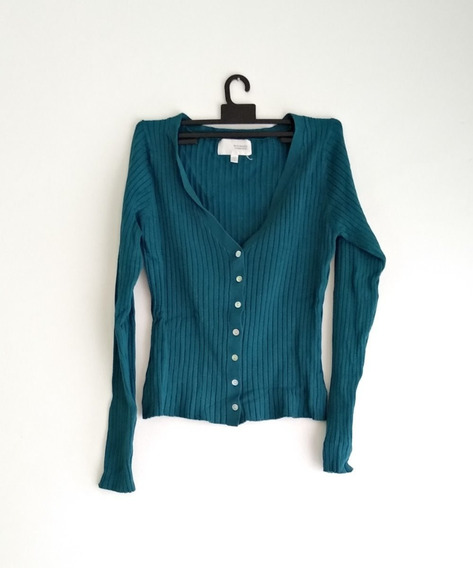 Suéter Cortito Metropolis Suburbia Verde Azulado Impecable