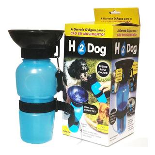 Bebedor Portátil Para Passeio Azul H2 Dog