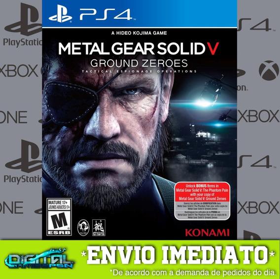 Metal Gear Solid V Ground Zeroes Ps4 Jogo Digital Em 10 Min