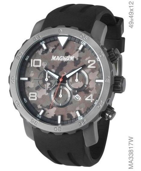 Relógio Masculino Magnum Analógico Com Cronógrafo Ma33817w