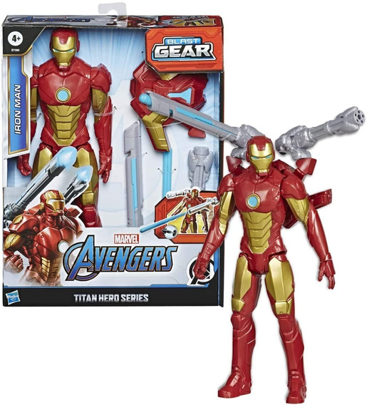 Avengers Titan Hero Blast Gear Iron Man E7380 Envio Full