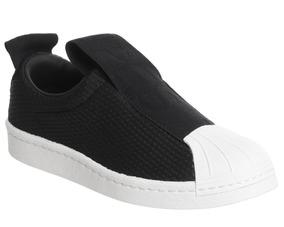 61430295a Adidas Superstar Slip On Bw Preto - Tênis para Feminino no Mercado ...