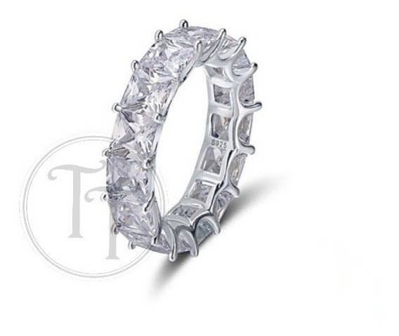 Anillo Plata Esterlina 925 Zirconia White Perusa