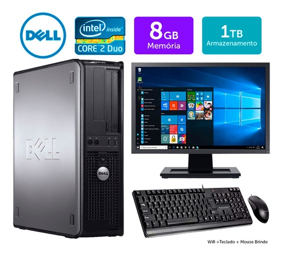 Cpu Barato Dell Optiplex Int C2duo 8gb Ddr3 1tb Mon17w