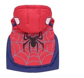 Roupa De Frio Infantil Menino Colete Homem Aranha