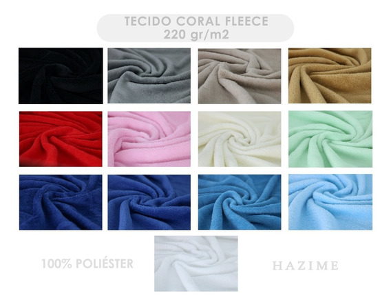 2m De Tecido Para Manta Cobertor Coral Fleece Micro Fibra