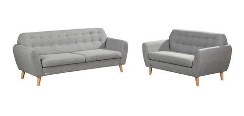 Juego De Living Sillones 3+2 Cuerpos Sofa Nordico