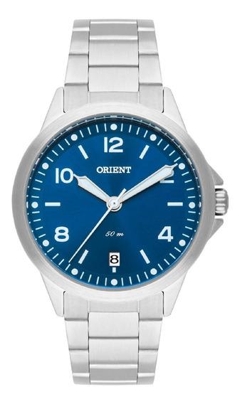 Relógio Orient Feminino Fbss1159 D2sx Prata Azul Pequeno