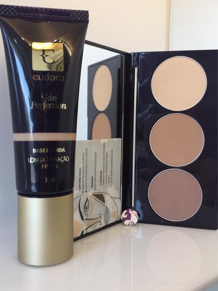 Base Skin Perfection 30ml + Paleta Contorno Facial - Eudora