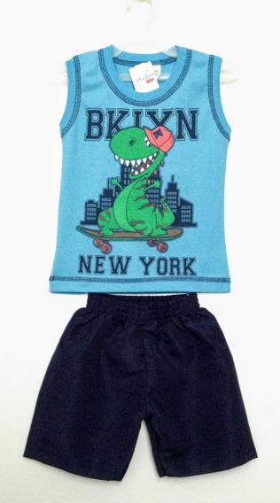 Conjunto Camiseta E Bermuda Infantil Fashion Kids Tam 1 A 3