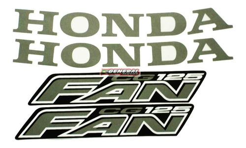 Kit Adesivo Jogo Faixas Moto Honda Fan 125 2008 Preta