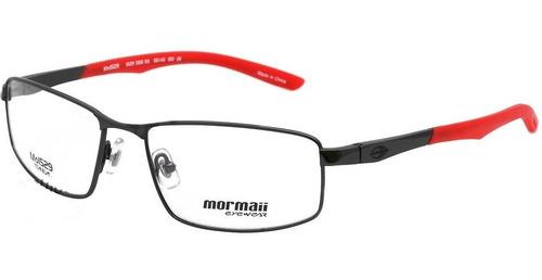 Imagem 1 de 1 de Armação Oculos Grau Mormaii Mo1529 55855 Titanio Preto Verme